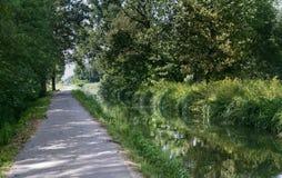 Canal of Bereguardo (IMilan) Stock Photography