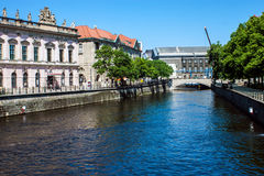 Canal in Berlin, Germany Royalty Free Stock Photography