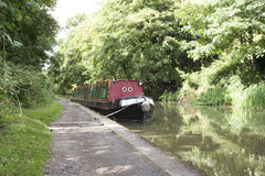 Canal boat Stock Photos