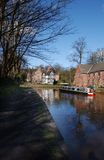 The Canal Boat. A canal Boat royalty free stock photos