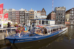 Canal boat Amsterdam Royalty Free Stock Photos