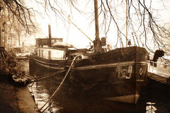 Canal Boat Royalty Free Stock Photos