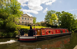 Canal boat in central London Stock Image