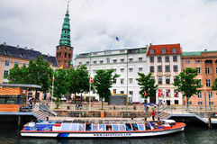 Canal boat in Copenhagen, Denmark. Stock Photography
