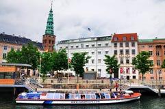 Canal boat in Copenhagen, Denmark. Stock Photography
