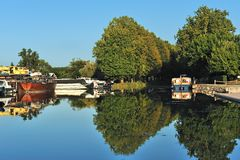 Canal boat two Royalty Free Stock Photos