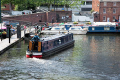 Canal boating Royalty Free Stock Photo