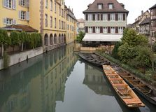 Canal and boats in Colmar Royalty Free Stock Images