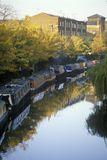 Canal boats in London, England Stock Photo