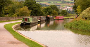 Canal Boats Scene England Royalty Free Stock Images