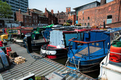 Canal boats Stock Images