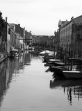 Canal and boats venice Stock Photos
