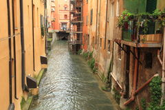 Canal in Bologna Stock Photography