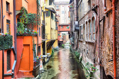 Canal in Bologna Stock Image