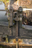 Canal Bottom Lock Paddle/Winding Gear. Stock Photography