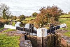 Canal Bottom Lock. Stock Images