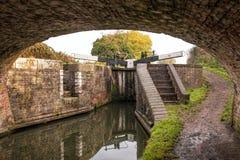 Canal Bottom Lock. Royalty Free Stock Image