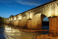 Canal-bridge. The canal bridge in Agen, South West France Royalty Free Stock Photos
