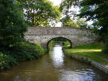 Canal bridge. Brick built bridge over the Llangollen canal Royalty Free Stock Image