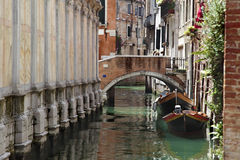Canal and bridge in Venice Stock Photography