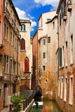 Canal and Bridge in Venice - Italy Royalty Free Stock Photo