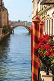 Canal and bridge in Venice near Saint Mark Square Stock Image