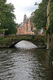 Canal in Bruges Stock Image