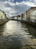 Canal in Bruges Stock Photography
