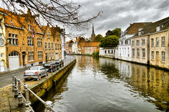 Canal in bruges Royalty Free Stock Photos