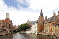 Canal in Bruges, Belgium Stock Photos