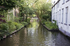 Canal in Bruges, Belgium Royalty Free Stock Photo