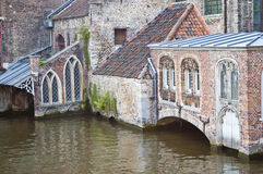 Canal in Bruges, Belgium Stock Images