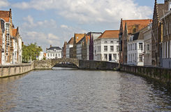 Canal in Bruges, Belgium Stock Photo