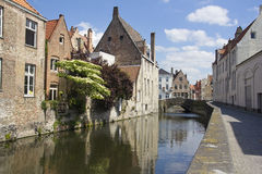 Canal in Bruges, Belgium Stock Photography
