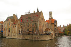 Canal in Bruges (Belgium) Royalty Free Stock Photography