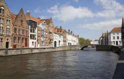 Canal in Bruges, Belgium Royalty Free Stock Photos