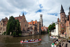 Canal of Bruges, Belgium Stock Photography