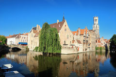 Canal of Bruges, Belgium. Canal of Bruges, a city in Belgium Stock Photos
