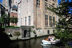 Canal of Bruges, Belgium Stock Image