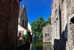 Canal of Bruges, Belgium Stock Images