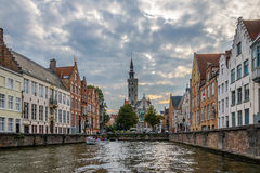 Canal in Bruges. Belgium. Royalty Free Stock Photo