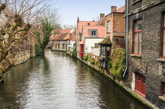 Canal in Bruges, Belgium Royalty Free Stock Photography