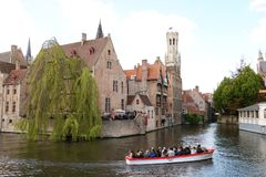Canal in Bruges Belgium Royalty Free Stock Photos