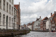 Canal in Bruges Belgium Royalty Free Stock Images