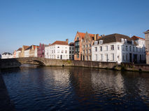 Canal in Bruges, Belgium Stock Image