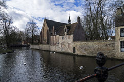 Canal in Bruges, Belgium. Royalty Free Stock Images