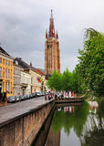 Church in Brugge, Belgium Stock Image