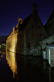 Canal in Bruges. Flanders. Belgium Royalty Free Stock Photo