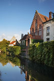 Canal in Bruges. Flanders. Belgium Stock Images