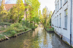 Canal in Bruges Stock Images